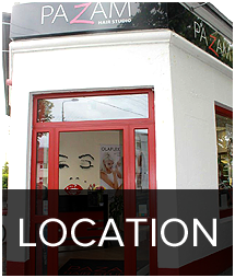 Pazam hair salon lcoation map